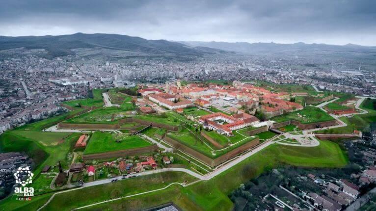 Alba Carolina Citadel in Transylvania